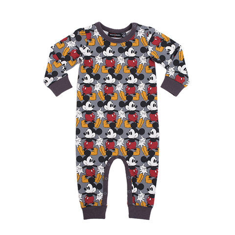 Rock Your Baby - Marching Mickey Long Sleeve Playsuit