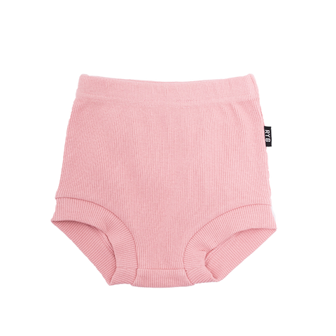 Rock Your Baby - Pink Rib Nappy Cover