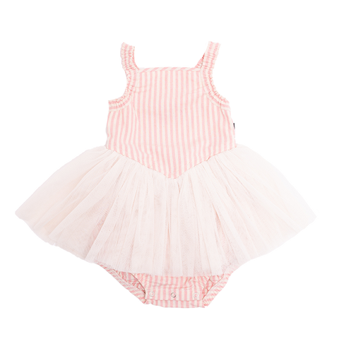 Rock Your Baby - Pink Stripe Lou Lou Dress (Baby Girls)