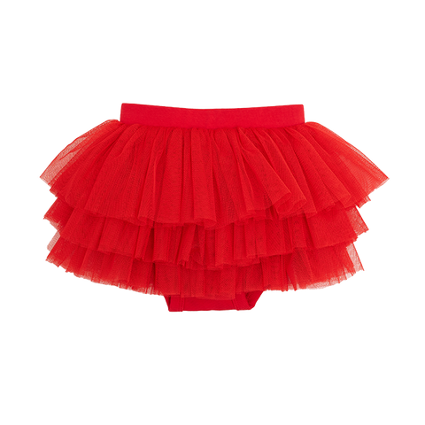 Rock Your Baby - Red Tulle Nappy Cover