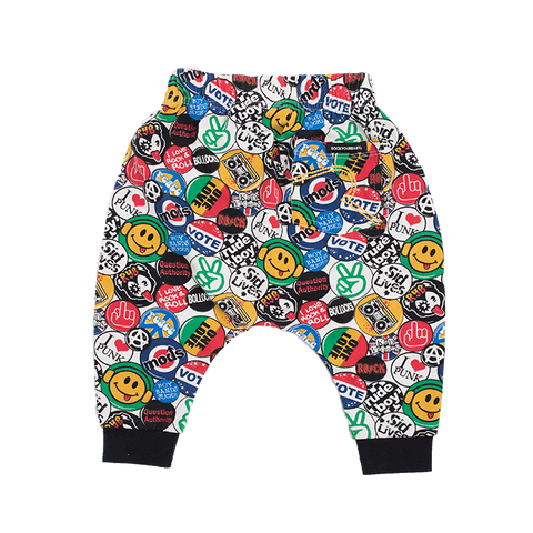 Rock Your Baby - Retro Badges Pants
