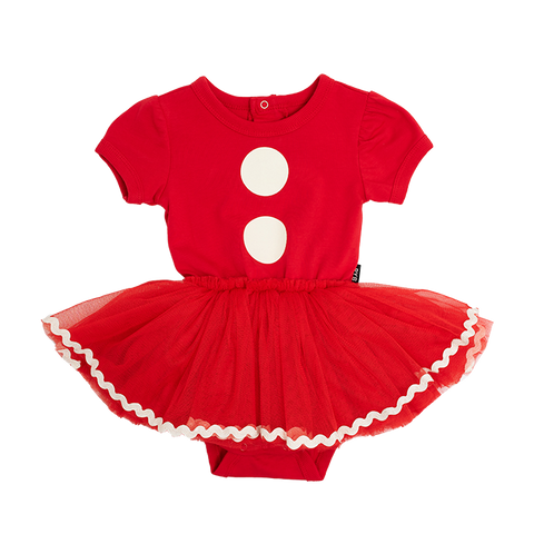 Rock Your Baby - Santa Baby Short Sleeve Circus Dress (Baby)