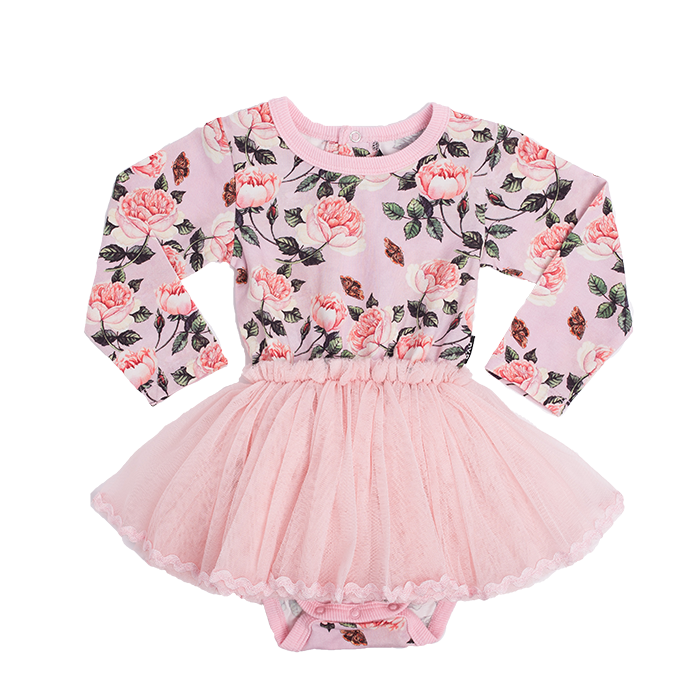 Rock Your Baby - Shabby Chic Long Sleeve Circus Dress