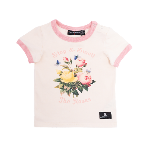 Rock Your Baby - Smell The Roses T-Shirt (Baby Girls)