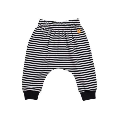 Rock Your Baby - Stripe Drop Crotch Pants (Cream/Black)