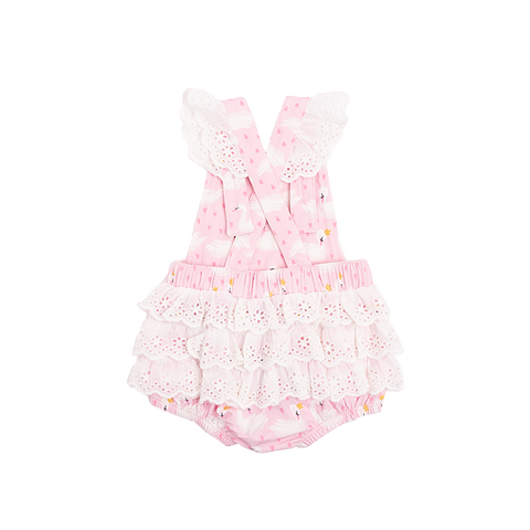 Rock Your Baby - Swannie Lace Frill Romper