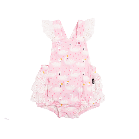 PRE-ORDER Rock Your Baby - Swannie Lace Frill Romper