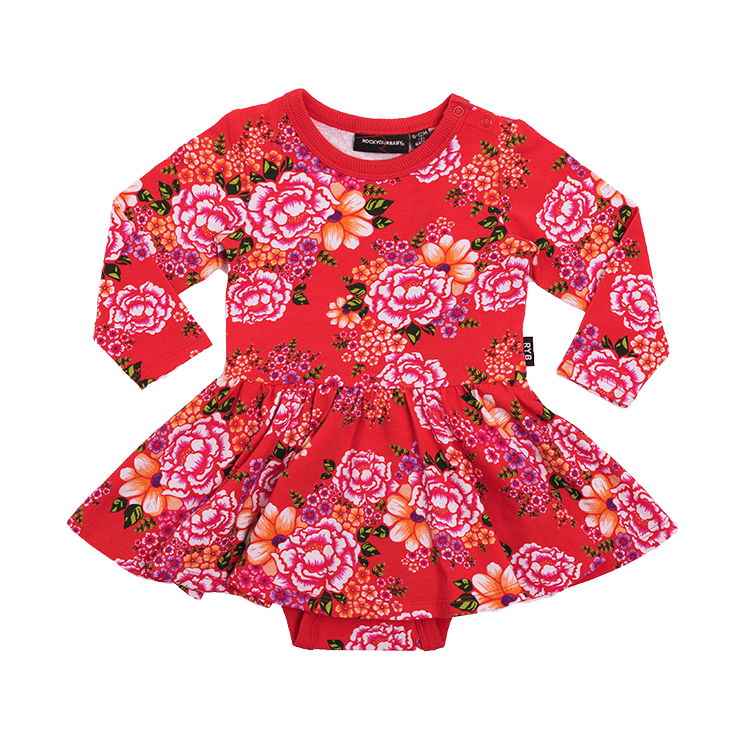 Rock Your Baby - Tokyo Joe Long Sleeve Waisted Dress