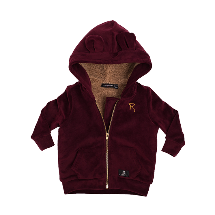 Rock Your Baby - Velvet Hoodie Plum