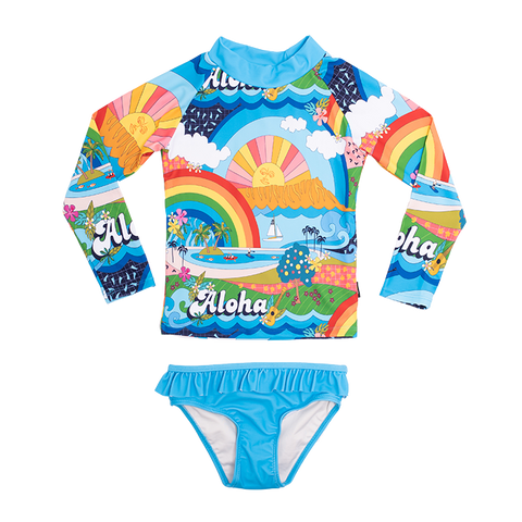 Rock Your Baby - Aloha Rashie Set