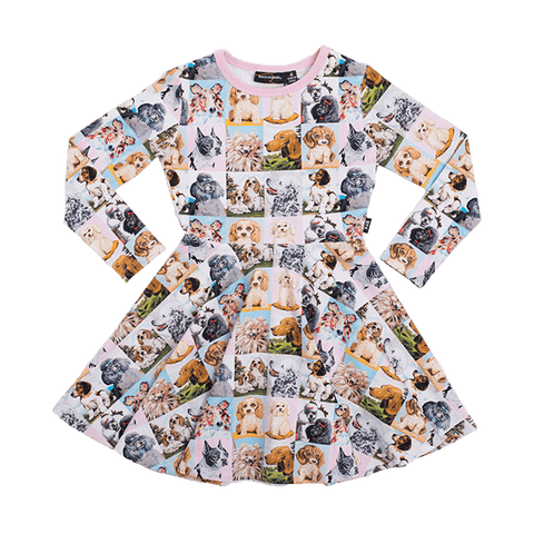 Rock Your Baby - Best In Show Long Sleeve Waisted Dress