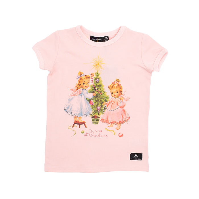 Rock Your Baby - Christmas Eve Short Sleeve T-Shirt (Girls)