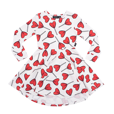 Rock Your Baby - Little Sweetie LS Waisted Dress