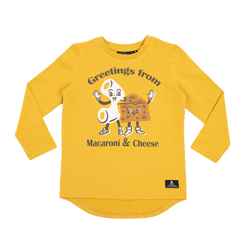 Rock Your Baby - Mac & Cheese LS Boys T-Shirt