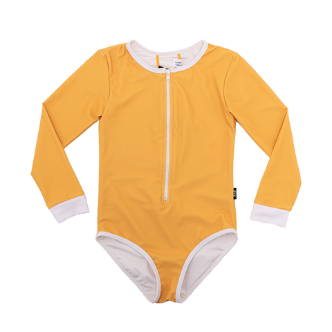 Rock Your Baby - Mustard Lucille Long Sleeve One Piece