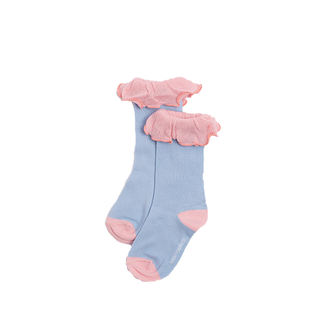 Rock Your Baby - Oriental Floral Mid Length Ruffle Socks