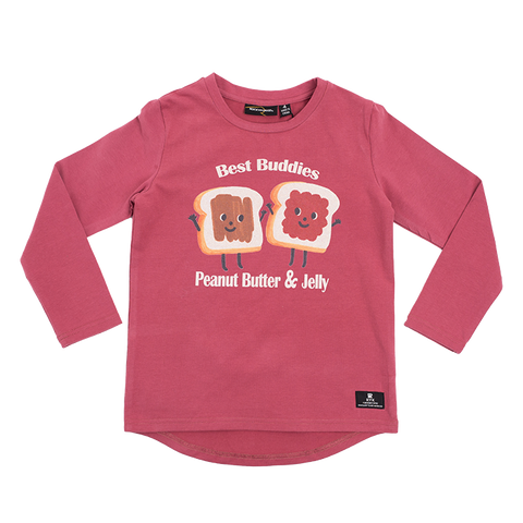 Rock Your Baby - Peanut Butter & Jelly LS Boys T-Shirt