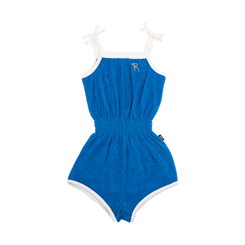 Rock Your Baby - Blue Sabrina Romper