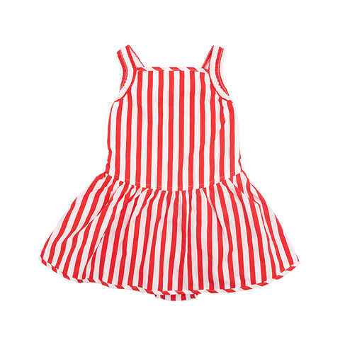 Rock Your Baby - Lana Romper Dress Red Stripe (Girls)