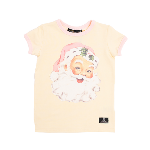 Rock Your Baby - Santa Short Sleeve T-Shirt (Girls)