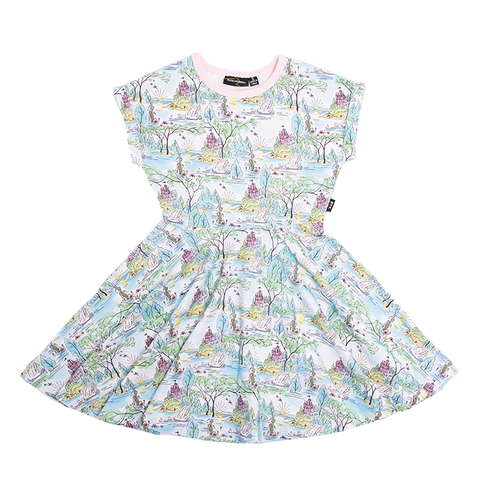Rock Your Baby - Swan Castle Waisted Dress