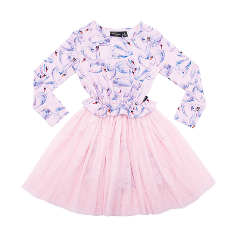 Rock Your Baby - Swans LS Flounce Dress