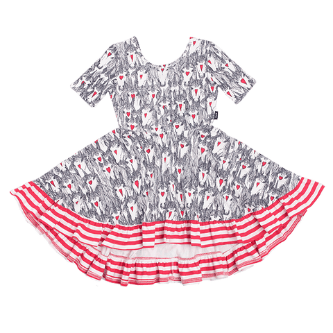 Rock Your Baby - Unicorn Love Waisted Frill Dress (Girls)
