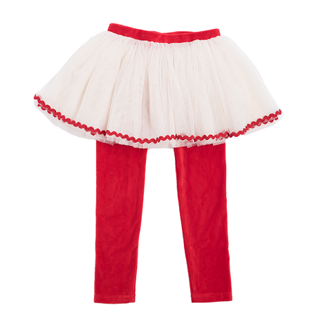 Rock Your Baby - Velvet Circus Tights (Red)