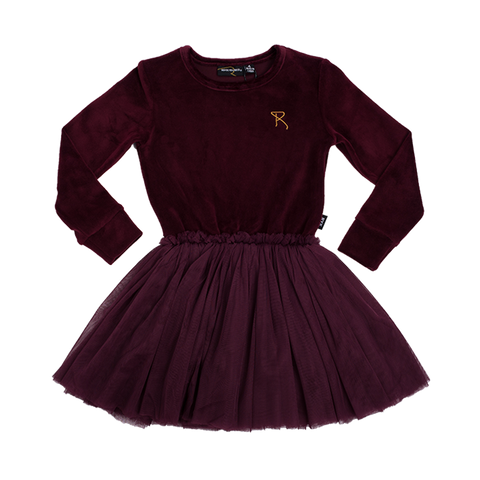 Rock Your Baby - Velvet Circus Dress (Plum)