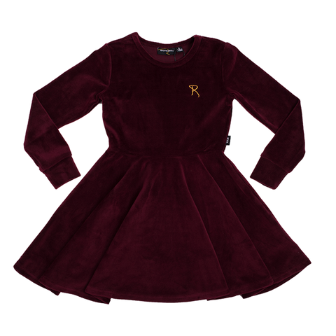 Rock Your Baby - Velvet Waisted Dress (Plum)