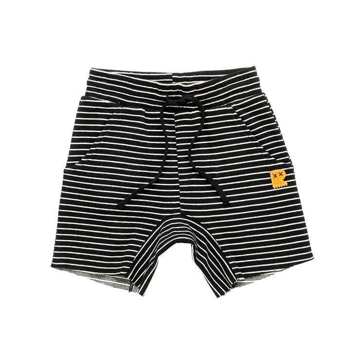 Rock Your Baby - Black/Cream Stripe Shorts