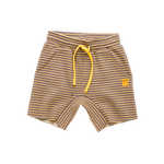 Load image into Gallery viewer, Rock Your Baby - Charcoal/Mustard Stripe Shorts