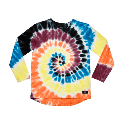 Rock Your Baby - Tie Dye LS Boys T-Shirt