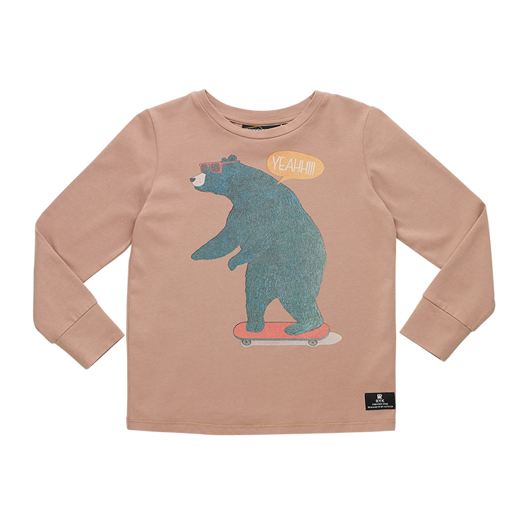 Rock Your Baby - Bear Skater LS Boys T-Shirt