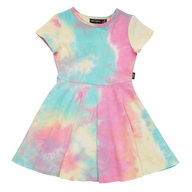 Rock Your Baby - Festival Tie Dye Waisted Dress