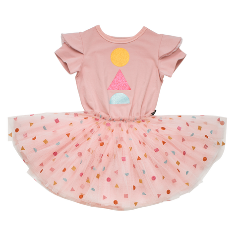 Rock Your Baby - Pink Big Top Short Sleeve Circus Dress