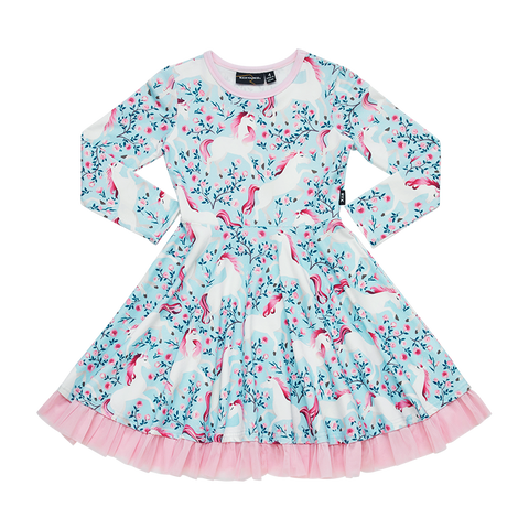 Rock Your Baby - Field Of Dreams LS Waisted Dress