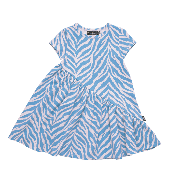 Rock Your Baby - Pink Zebra Short Sleeve Diagonal Dress