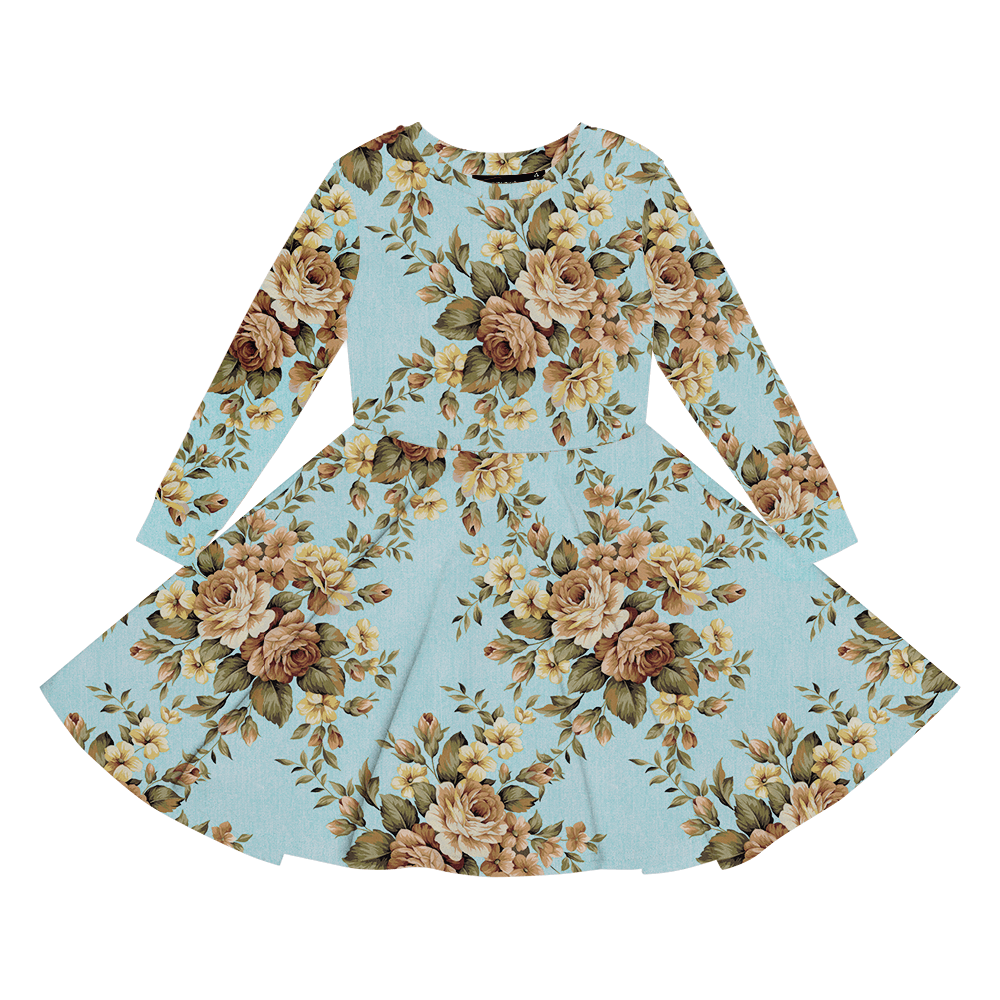 Rock Your Baby - Winter Bloom Waisted Dress