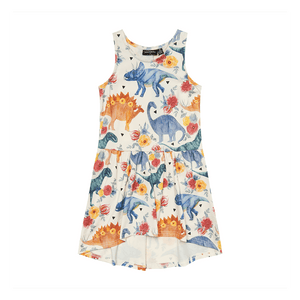 Rock Your Baby - Dino Floral Drop Waist Dress