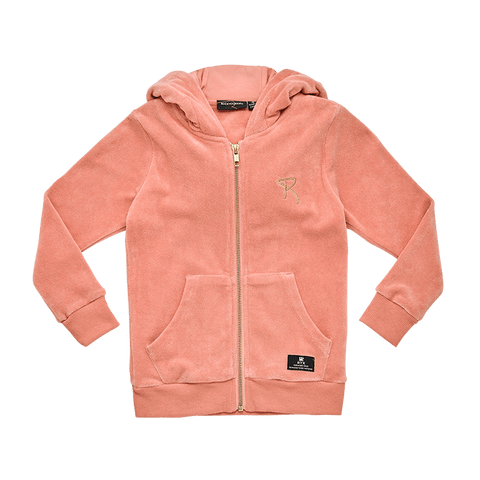 Rock Your Baby - Musk Pink Terry Towelling Hoodie