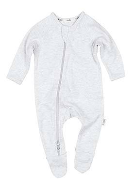 Toshi - Organic Long Sleeve Dreamtime Onesie (Dove)