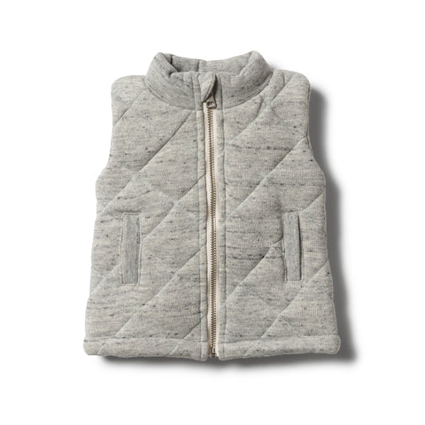 Wilson & Frenchy - Grey Fleck Quilted Vest