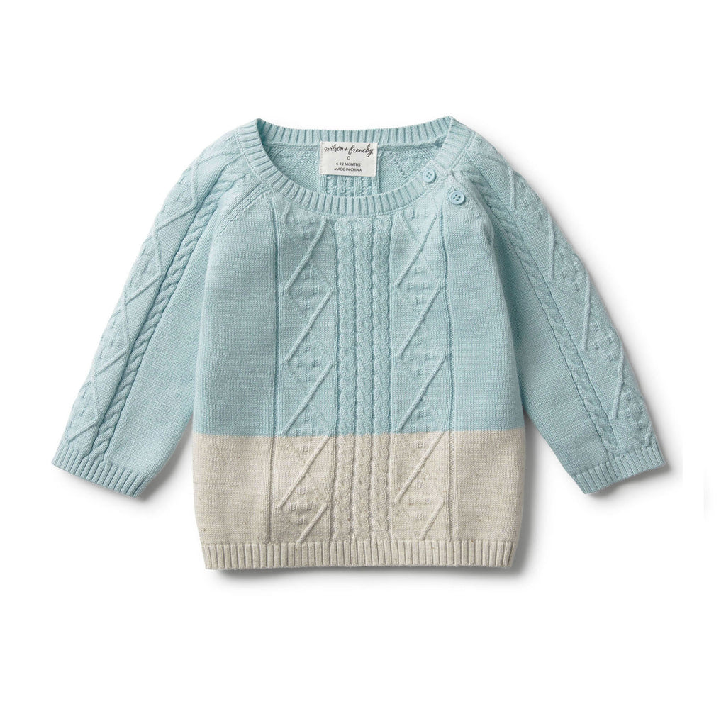 Wilson & Frenchy - Sea Foam Dipped Cable Knit Jumper