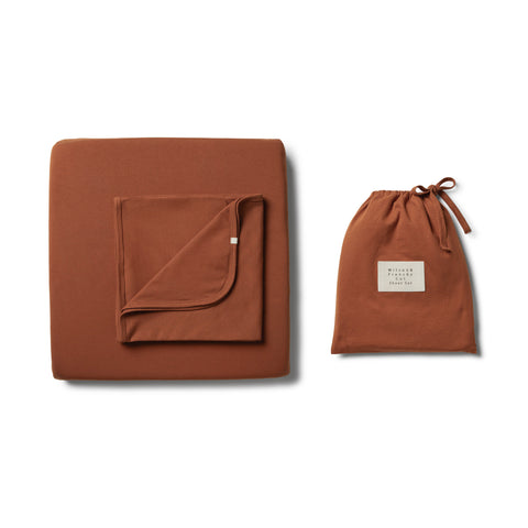 Wilson & Frenchy - Organic Toasted Pecan Cot Sheet Set