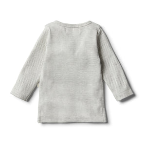 Wilson & Frenchy - Organic Cloud Grey Henley Top