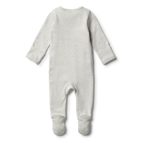 Wilson & Frenchy - Organic Cloud Grey Zipsuit