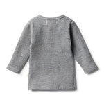 Load image into Gallery viewer, Wilson & Frenchy - Cloud Grey Waffle Henley Top