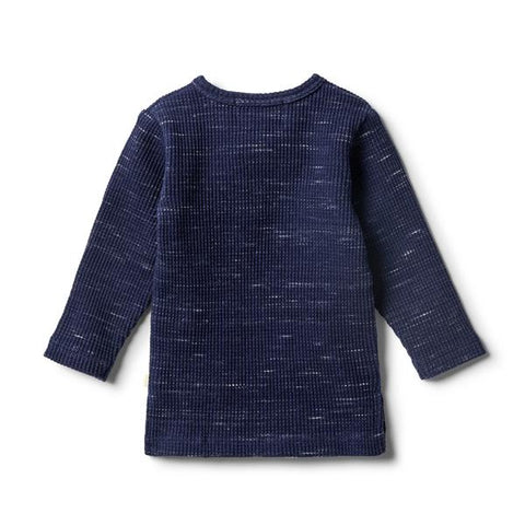 Wilson & Frenchy - Twilight Blue Waffle Henley Top