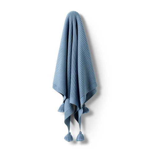 Wilson & Frenchy - Faded Denim Rib Blanket